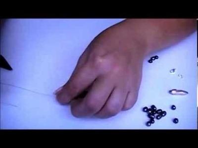 Como hacer una Pulsera de perlas naturales, bisuteria tutorial, bisuteria paso a paso