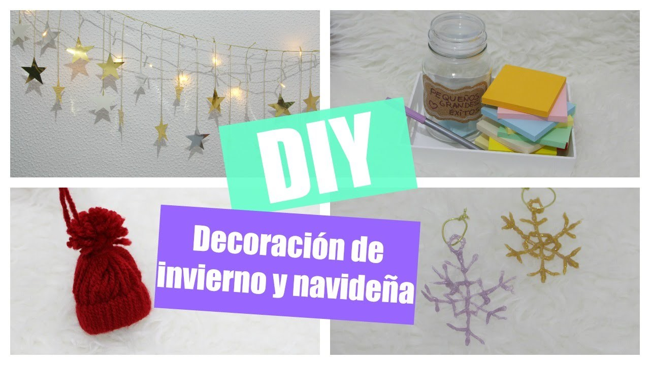 DIY Decoración de invierno y navideña ♥ Enchanted Closet