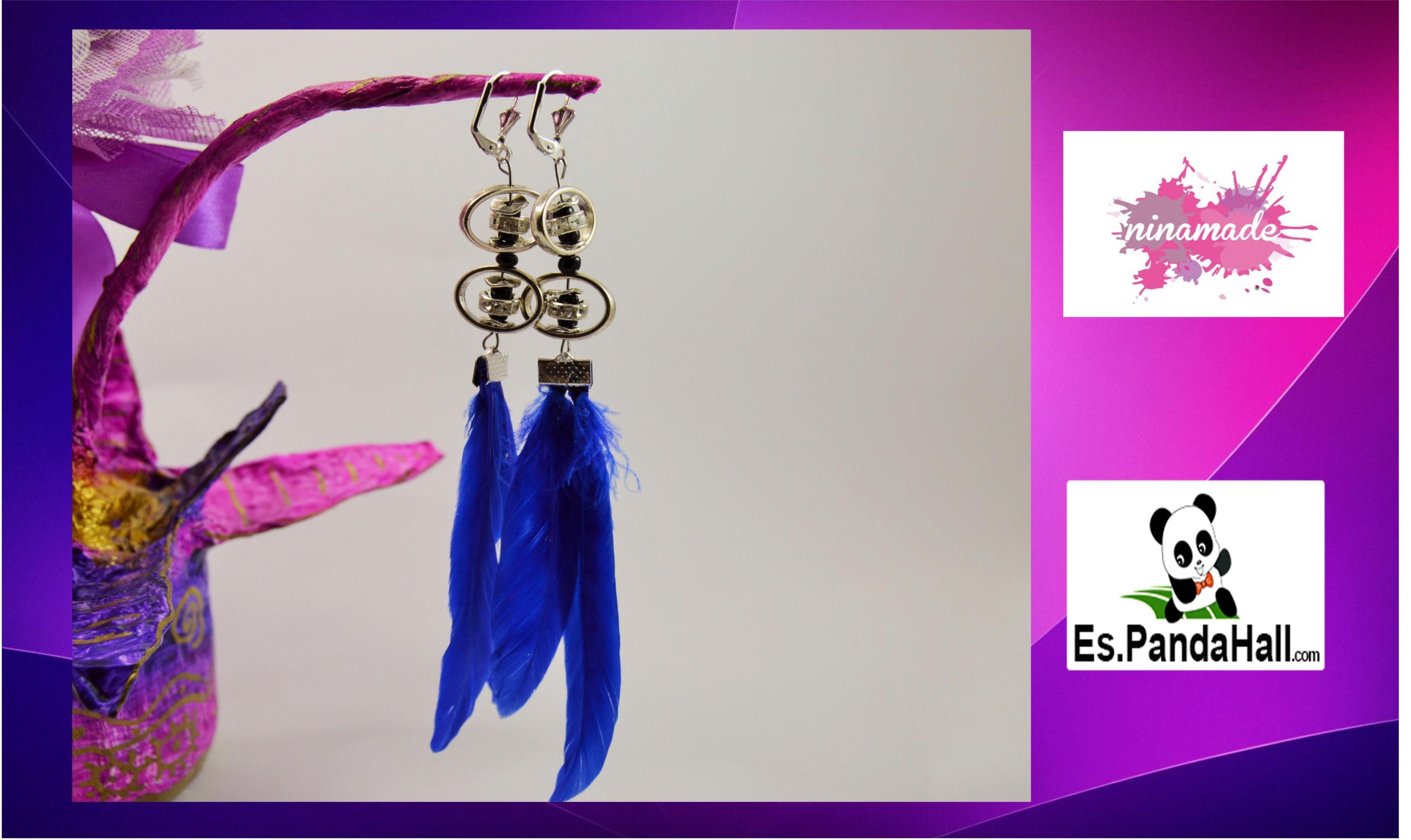 DIY.Tuto19. Pendientes tendencia.Earrings tendence. Es.Pandahall.com