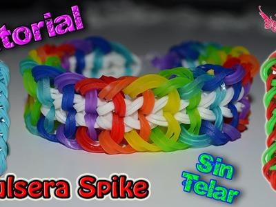 ♥ Tutorial[ESPECIAL NAVIDAD]: Pulsera Spike (sin telar) ♥