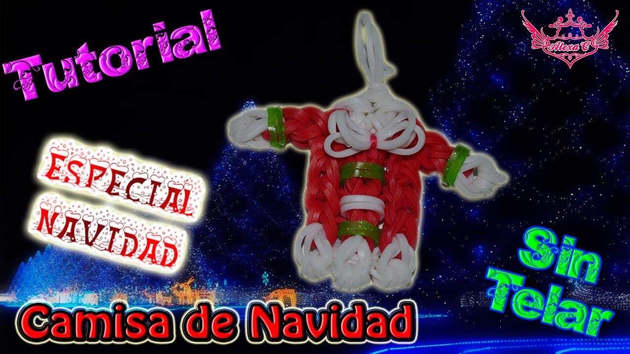 ♥ Tutorial[ESPECIAL NAVIDAD]: Camisa de Navidad (sin telar) ♥
