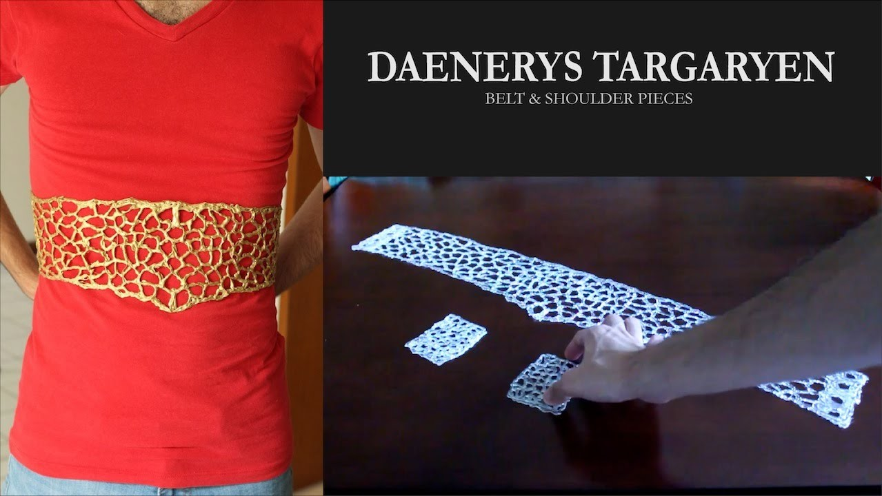 Cosplay Tutorial - Daenerys Targaryen's Belt (Hot glue accesories. Accesorios de silicón)
