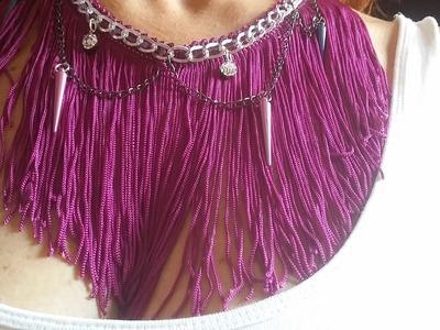 DIY: Collar con flecos y cadenas