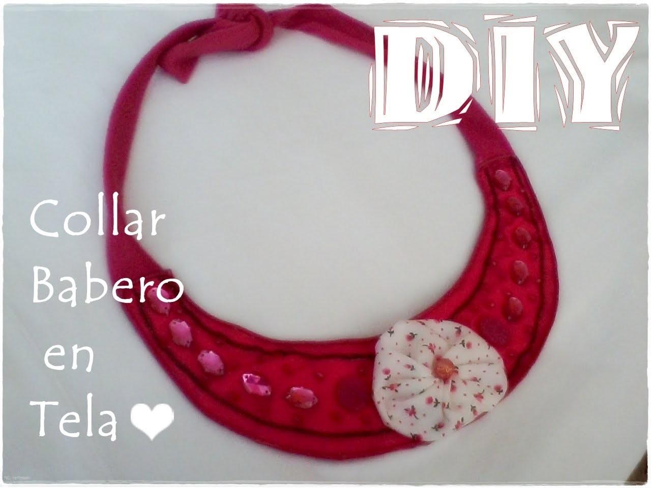 DIY Collar de tela