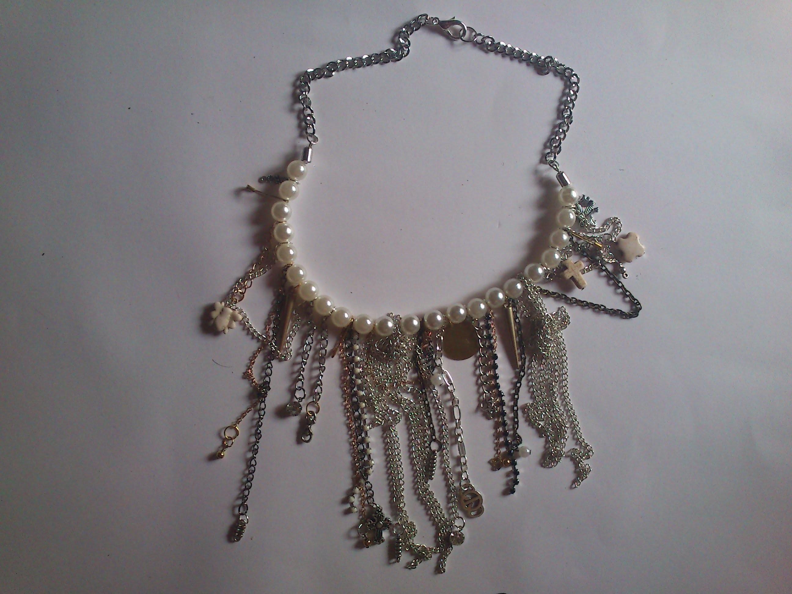 DIY: Collar perlas y varios tipos de cadena