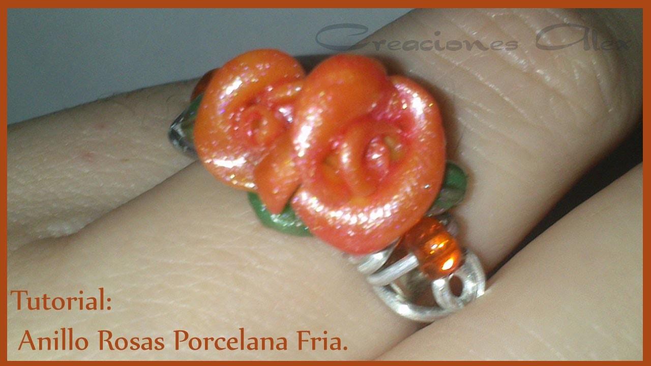Tutorial Anillo con Rosa Porcelana Fria