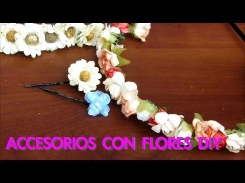 Accesorios con flores DIY
