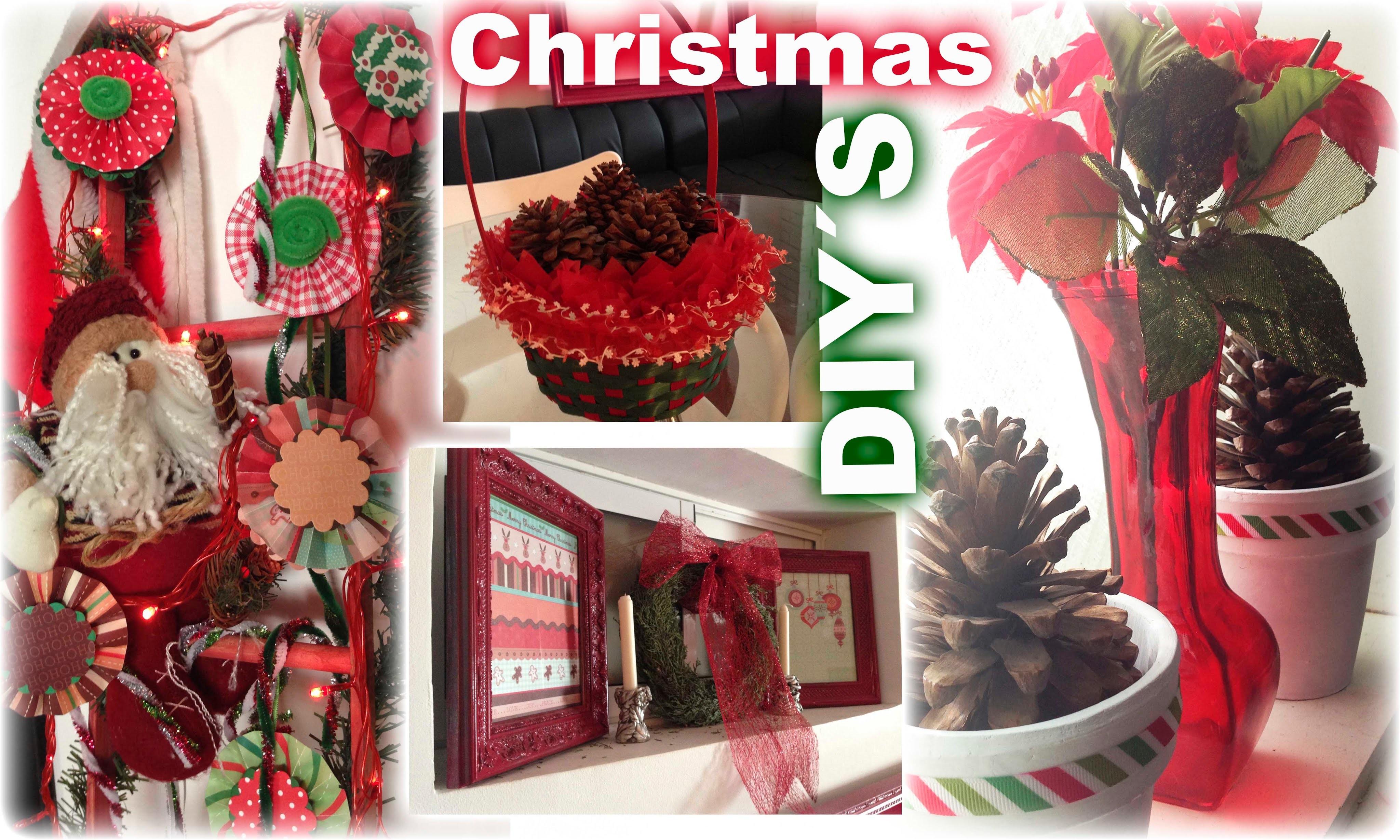 DIY: 4 Ideas Fáciles y Económicas Para Decorar de Navidad tu Casa. 4 Christmas Decorations