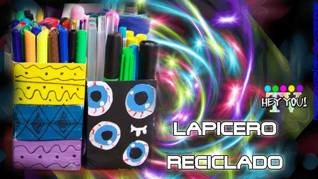 DIY: Lapicero Reciclado con Cartones de Jugo ( Super - Fácil y Rápido❤) ||| HeyyouTV