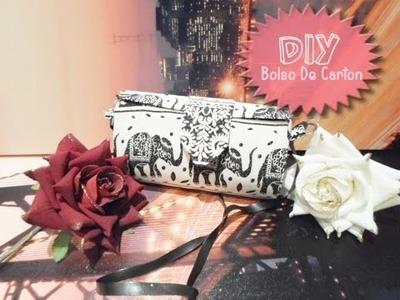 DIY bolso hecho con cartón. reciclaje. sin coser