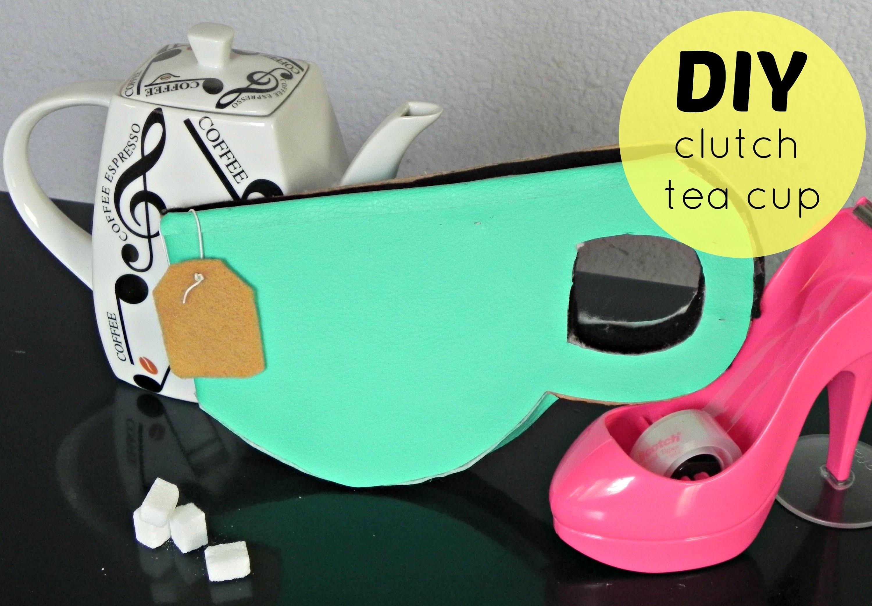 DIY Clutch.bolso taza de té