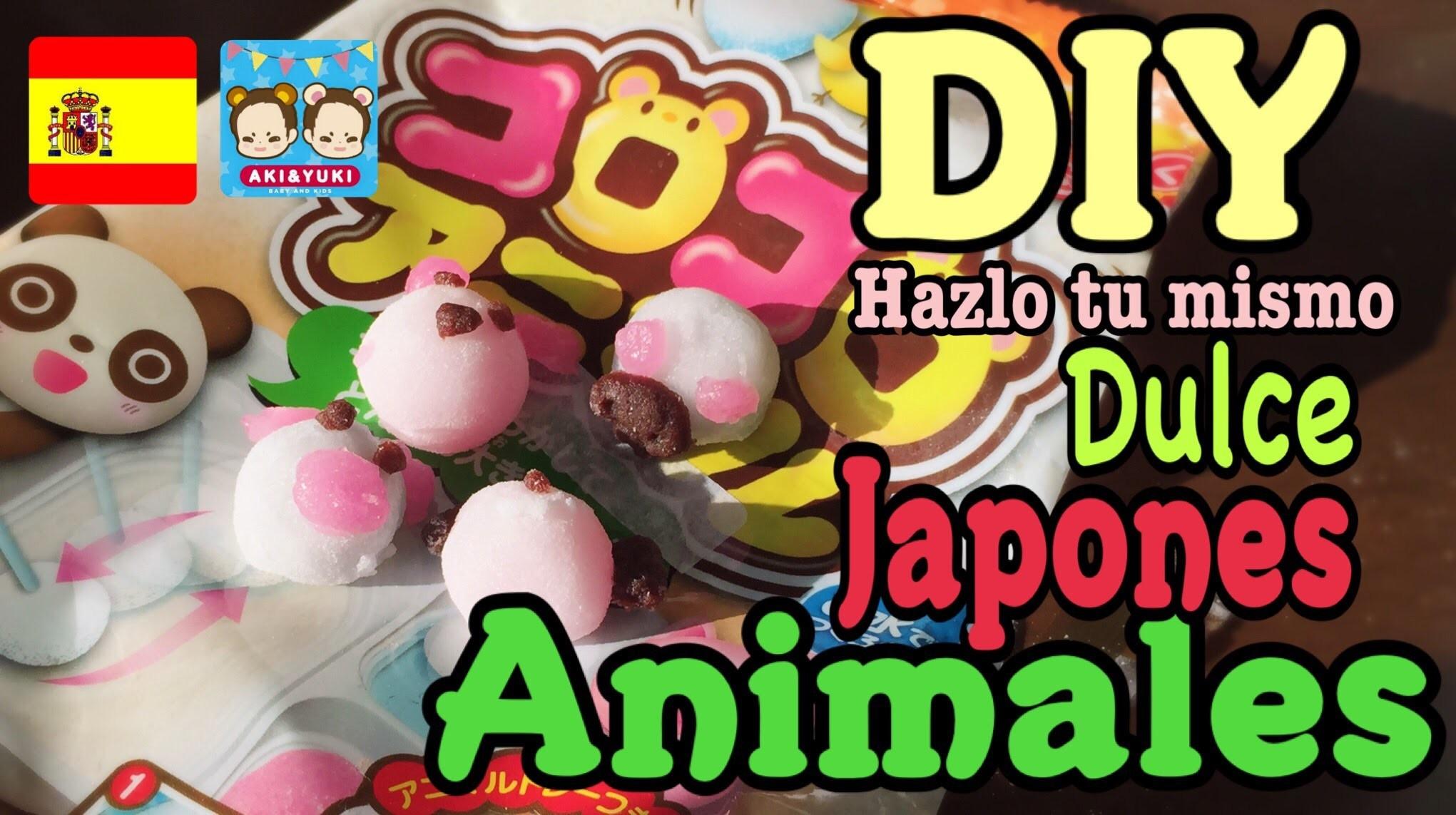 DIY Comida miniatura crea Animales de dulce japones Español manualidades niñas