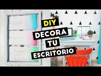DIY - DECORA TU ESCRITORIO + HAZ UN CALENDARIO PARA NUEVO AÑO | MADE IN DEXEL