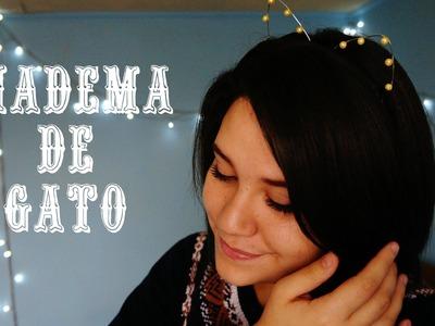 DIY: Diadema de gatito {Fácil♡} || Kariniwis