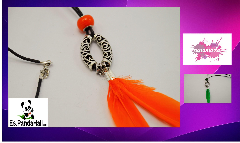 DIY. Tuto 17 Colgante con perlas tubo.  Pendant with Pearl tube. Es.PandaHall.com