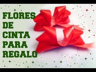 DIY-Como hacer unas Flores de CINTA para REGALO!♥ #FÁCIL- How to tie gift bow♥