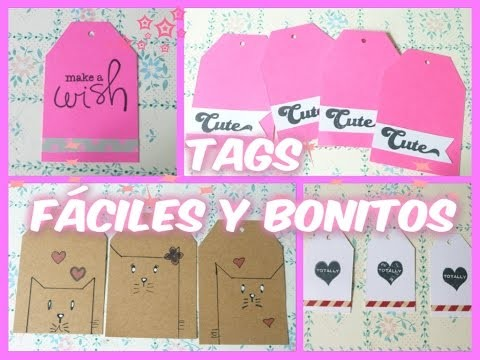 DIY.TAGS FÁCILES Y BONITOS. 4 IDEAS