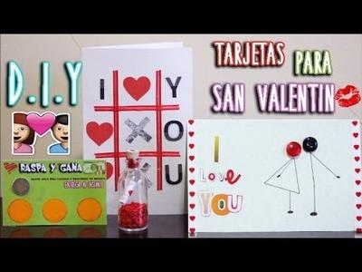 DIY: TARJETAS PARA SAN VALENTIN | FÁCIL Y RÁPIDO