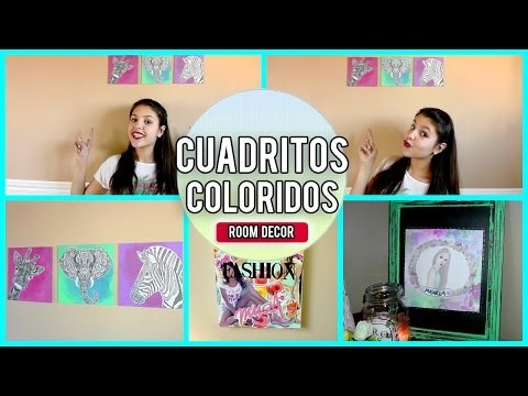 ►DIY: Cuadritos coloridos - ROOM DECOR-