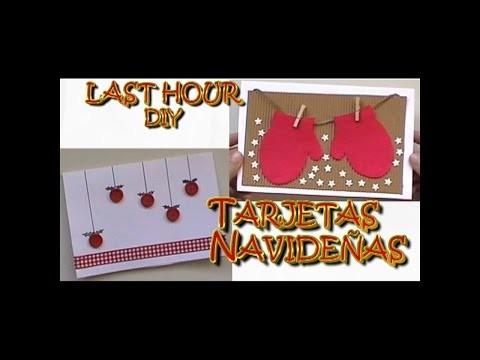 DIY Tarjetas navideñas de última hora. Last hour christmas card