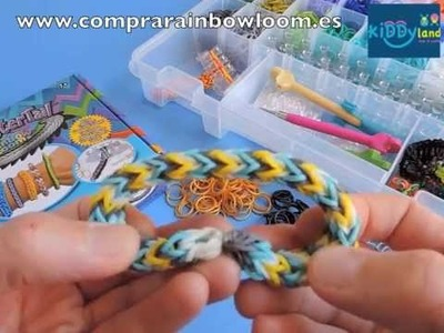 Monster Tail. Tutorial en Español haciendo la pulsera Criss-Cross Doble V