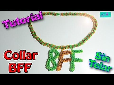 ♥ Tutorial: Collar BFF de gomitas (sin telar) ♥
