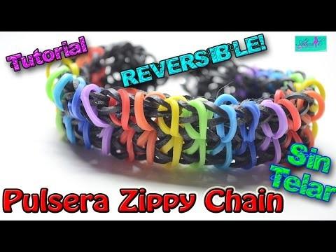 ♥ Tutorial: Pulsera Reversible Zippy Chain de gomitas (sin telar) ♥