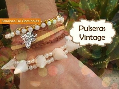❀Tutorial: Pulseras Vintage (3 Ideas) SG