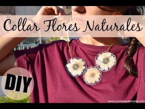 Collar con flores naturales | DIY
