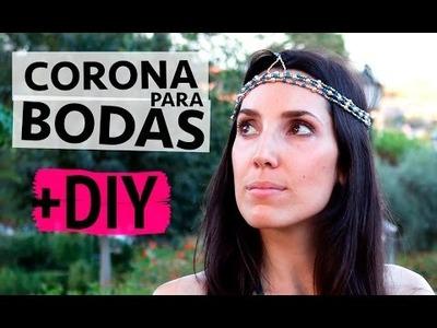 Corona para bodas DIY
