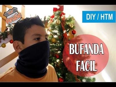 DIY.  BUFANDA MOTOCICLISTA FACIL
