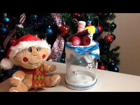 Diy caja de regalo decorada y hecha con una botella Pet.hecho por Itzomex