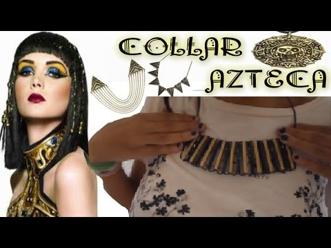 DIY: Collar con Pajitas, Estilo Cleopatra.