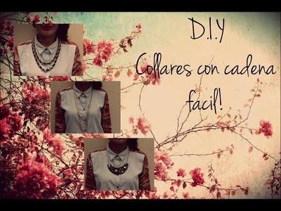 DIY Collares con cadena ♥