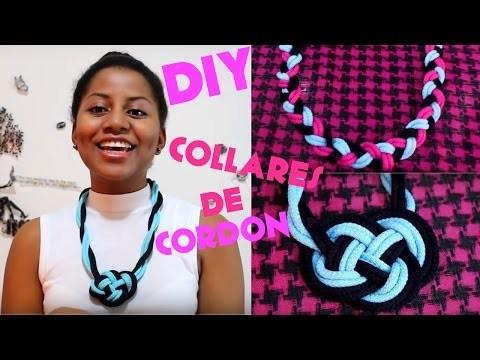 DIY COLLARES TRENZADO DE CORDONES | Camideas