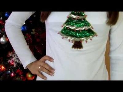 (DIY) como Decorar tus camisas  para abrir los regalos de navidad. Decorar camisetas