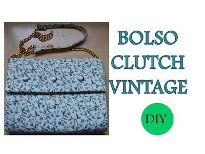 Diy como hacer bolso clutch vintage *por menos 3 euros*