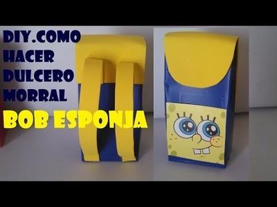 DIY.COMO HACER DULCERO DE BOB ESPONJA. SPONGE BOB PARTY