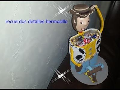DIY Como Hacer Dulcero De Vaquerito  WOODY Con  Caja De Leche