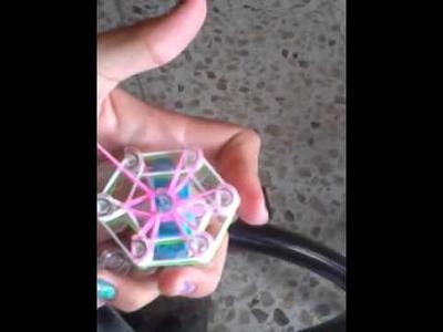 DIY COMO HACER PULSERA DE LIGAS CON FLOR