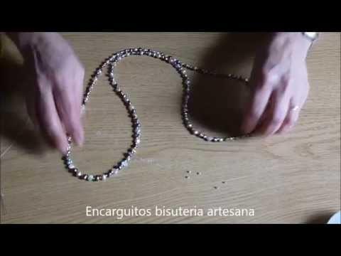 DIY Como hacer un collar de perlas de colores