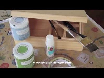 DIY, personalizar un costurero con pintura Chalky