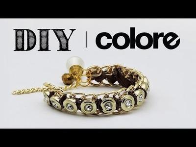 DIY Pulsera Cadena con Cristal - Colore Accesorios