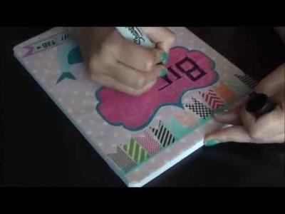 DIY Regreso a Clases (Parte N3)  Cuadernos Decorados con cinta y papel.