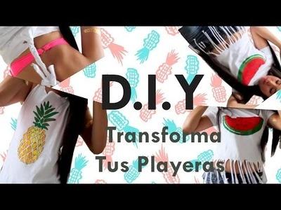 DIY TRANSFORMA TUS PLAYERAS PARA ESTE VERANO♥
