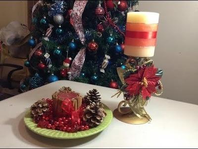 Diy velas decorativas para Navidad.Chritsmas Decorative candle.by Itzomex