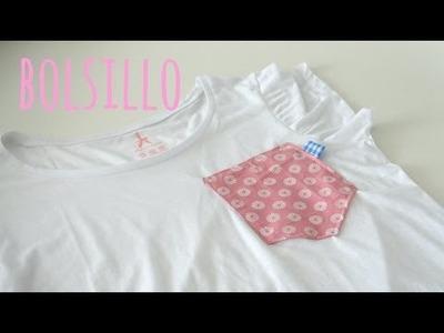 Tutorial DIY para poner un bolsillo a una camiseta basica  ( patrón incluido ). Mes de la camiseta