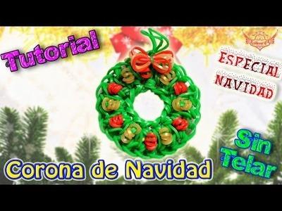 ♥ Tutorial[ESPECIAL NAVIDAD]: Corona de Navidad (sin telar) ♥