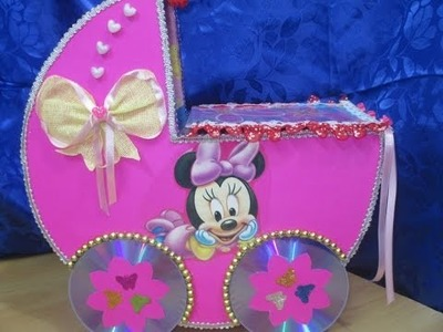 DIY: Pañalera de carton minnie mouse