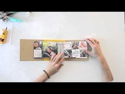 Cómo hacer un cierre elástico para un mini álbum - TUTORIAL Scrapbook   DIY